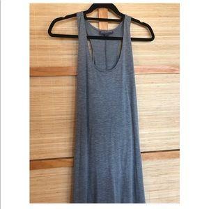 Maternity high low grey dress